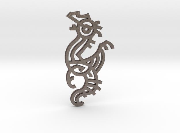 Dragon / Dragón in Polished Bronzed Silver Steel