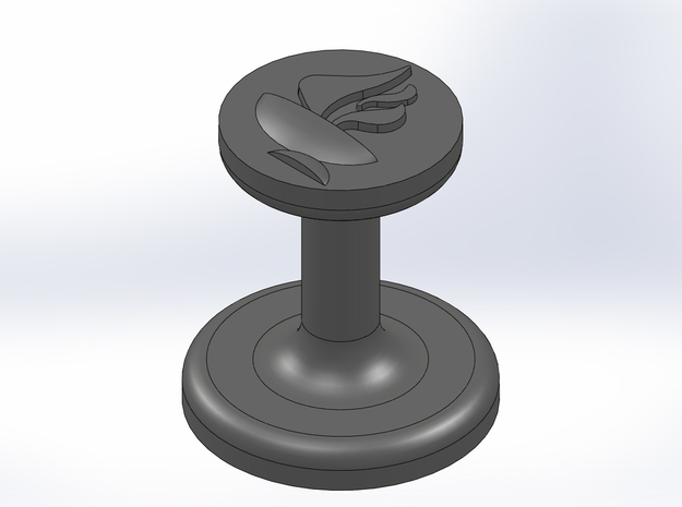 Chalice Wax Seal (Unitarian Universalist) 3d printed CAD rendering of the seal