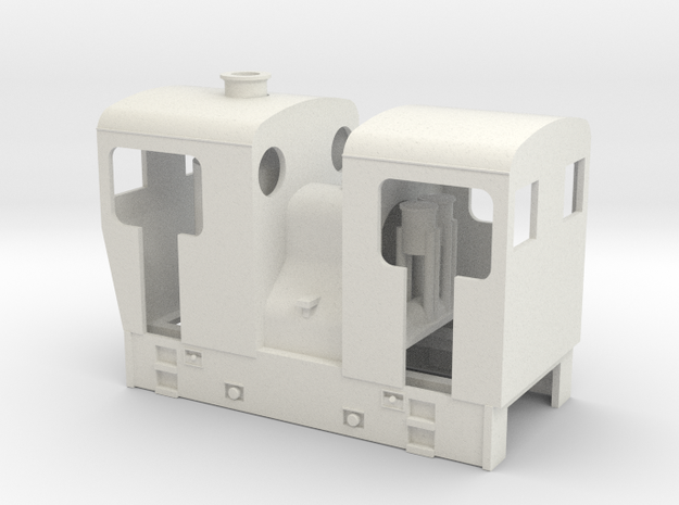 Sn2 double ended sentinel loco   in White Natural Versatile Plastic