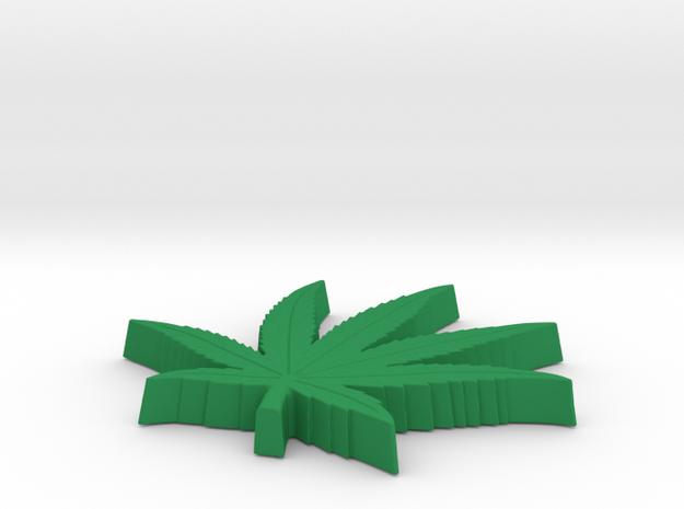 POT LEAF 1/4 thk in Green Processed Versatile Plastic