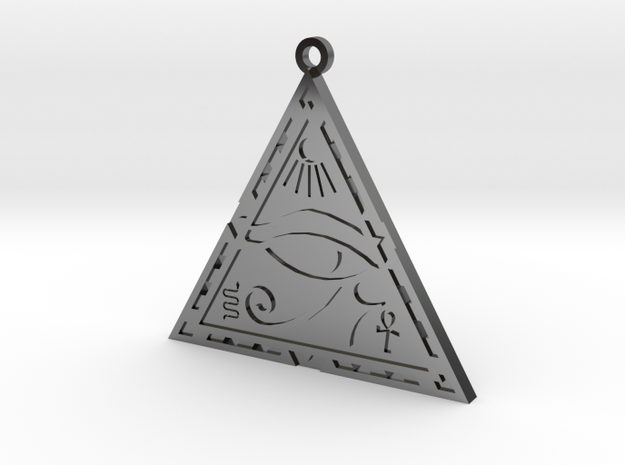 Eye Of Horus in Fine Detail Polished Silver