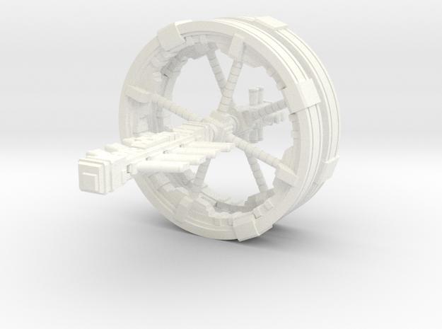 Futuristic space station concept (Large) in White Processed Versatile Plastic