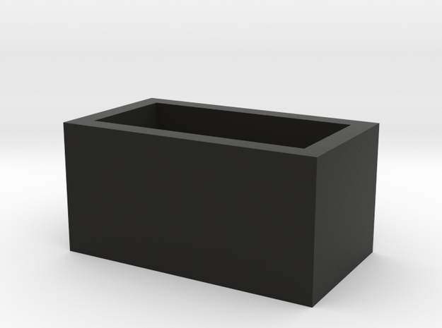 Speaker Box Closed in Black Natural Versatile Plastic