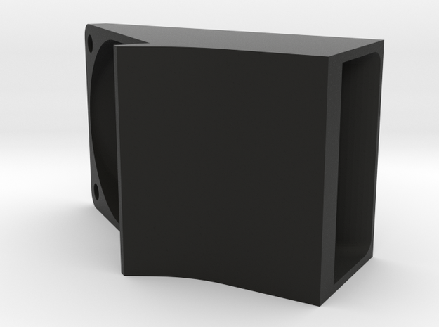 Left Cooler 25mm in Black Natural Versatile Plastic