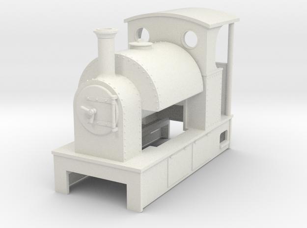 Sn2 open back cab saddletank in White Natural Versatile Plastic