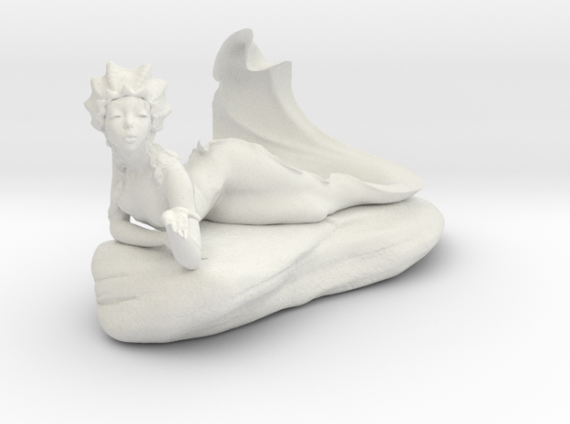 Mermaid Fountain in White Strong & Flexible