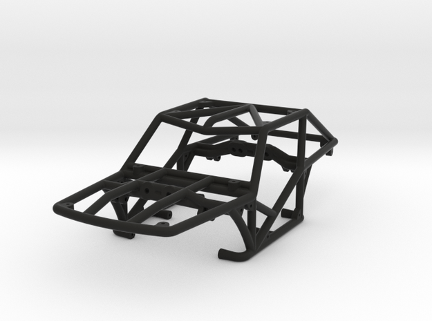 Specter-F v1 1/24th scale rock crawler chassis in Black Natural Versatile Plastic