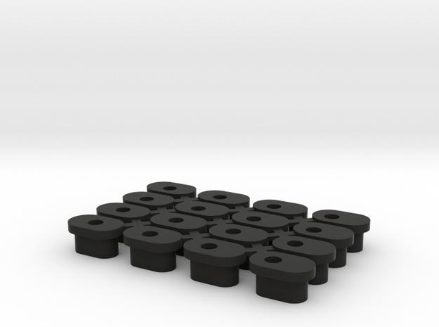 Ksg Slugs - Full Set in Black Natural Versatile Plastic