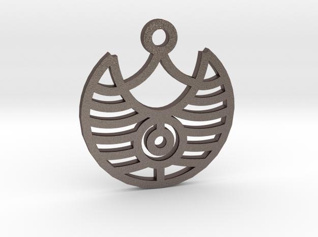 Magic Eye / Ojo Mágico in Polished Bronzed Silver Steel