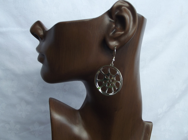 "Double Seconds ""essence"" steelpan earrings, L in Polished Silver"