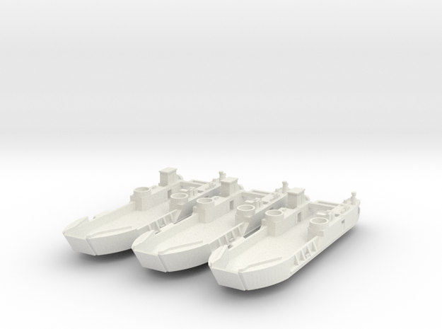 1/350 scale LCT6 3 Off in White Strong & Flexible