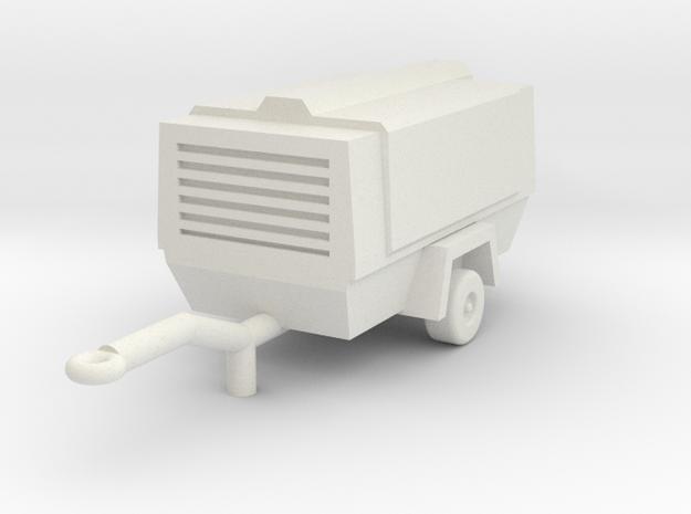 O Scale Atlas Copco Compressor in White Natural Versatile Plastic