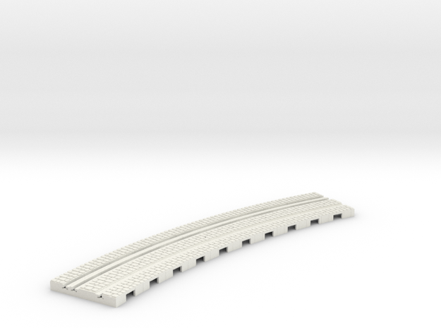 P-12-165stw-310-inside-curve-1a in White Natural Versatile Plastic