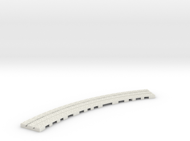 P-9stw-long-9in-curve-1a in White Natural Versatile Plastic