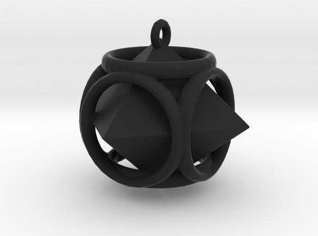 Diamond-Pendant in Black Natural Versatile Plastic
