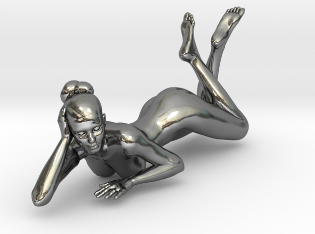 Sexy Girl-033-20-1-Silver in Polished Silver