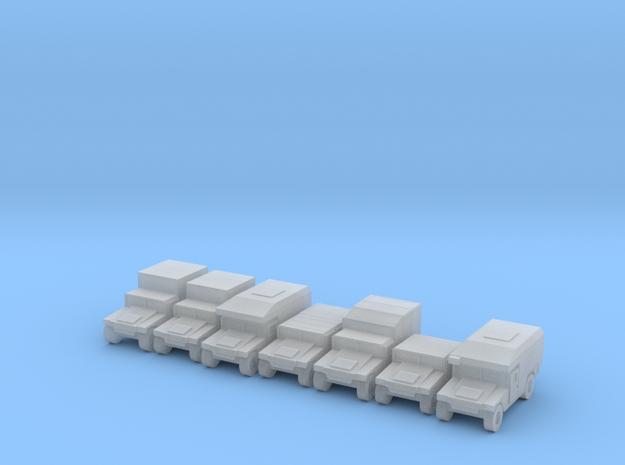 1/350 Humvee HMMWV 7 types in Smooth Fine Detail Plastic
