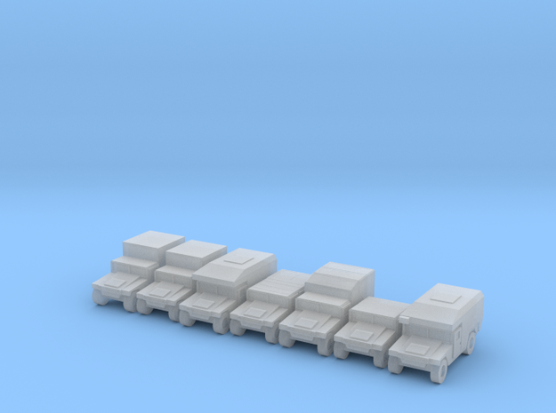 1/500 Humvee HMMWV 7 types in Smooth Fine Detail Plastic