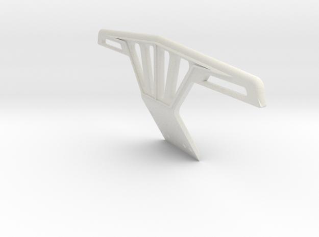 RC10 Bumper in White Natural Versatile Plastic
