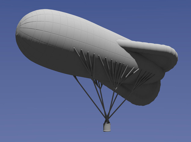 1/144 Caquot Type M Observation Balloon 3d printed Blender Model