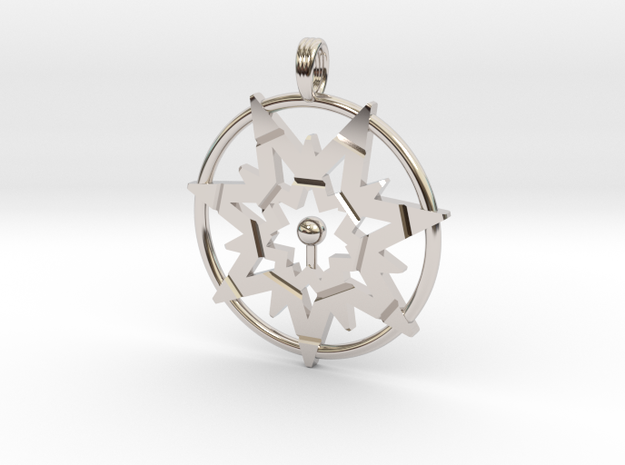 SEVEN POINTS OF LIGHT in Rhodium Plated
