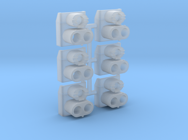 SP Rear Cluster (HO -1:87) 6X in Smoothest Fine Detail Plastic