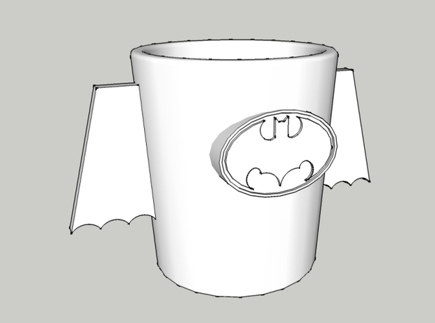 Batman Cup 3d printed Batman Cup