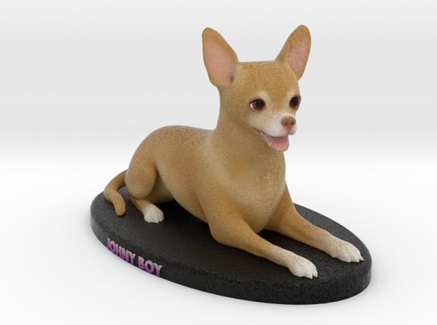 Custom Dog Figurine - Johny Boy in Full Color Sandstone