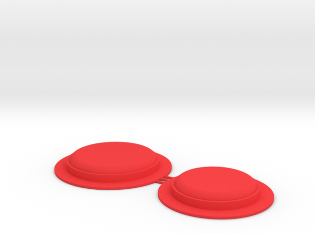 MPDA (Size 2) Lenses in Red Strong & Flexible Polished