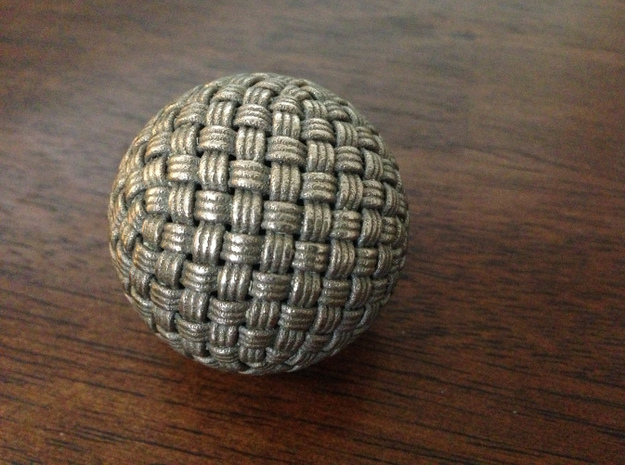 Single Stranded Globe Knot - 320 Facets in Polished Bronzed Silver Steel