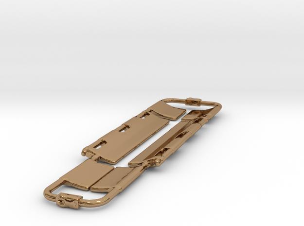 Spoon Stretcher Keychain in Polished Brass