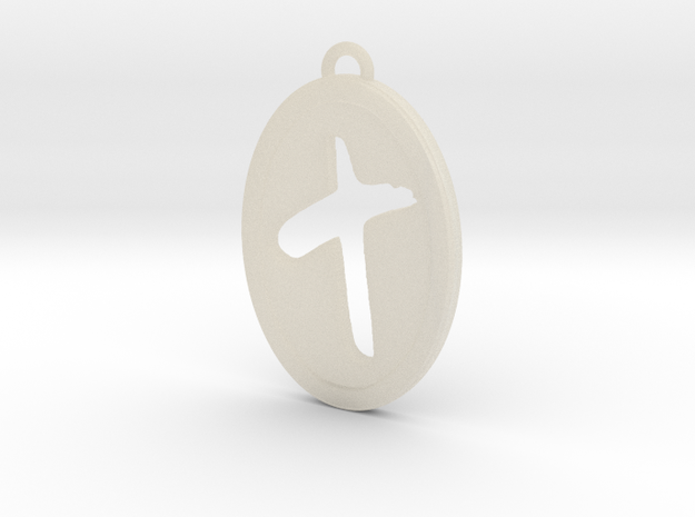 Oval Cutout Cross 3d printed
