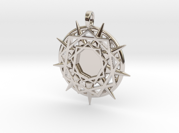 ENNEAGRAM COMPASS in Rhodium Plated