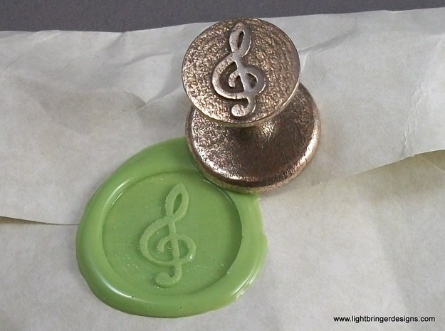Treble Clef Wax Seal in Stainless Steel