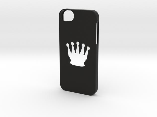 Iphone 5/5s chess queen case in Black Natural Versatile Plastic