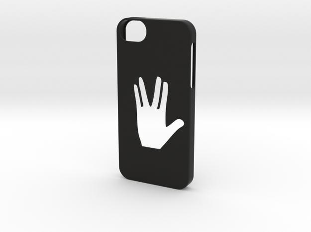 Iphone 5/5s Star trek gesture in Black Natural Versatile Plastic