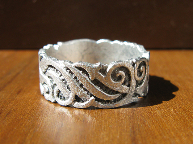 Ocean Kelp Forest Ring in Smooth Fine Detail Plastic