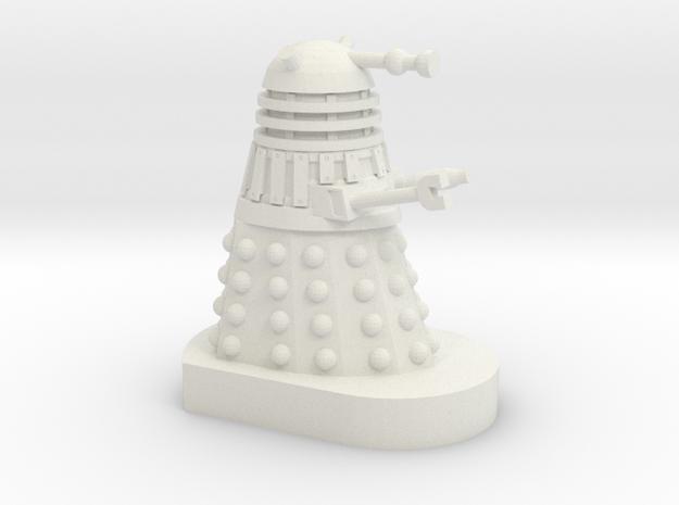 Dalek Mini [Cushing Movie Style] 30mm scale in White Natural Versatile Plastic