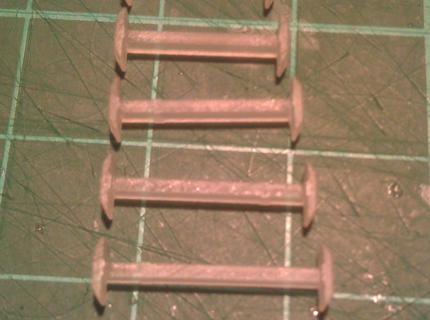 N Scale 9mm Fixed Coupling 3d printed Range of Couplings - 9mm to 14mm