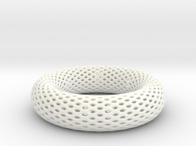 Frohr Design Bracelet Voronoi  Style in White Strong & Flexible Polished