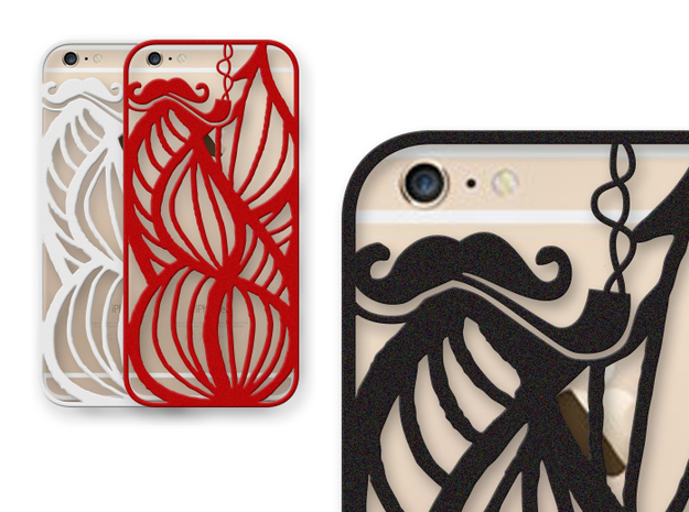 Hipsters Dream - case for iPhone 6 plus in Black Natural Versatile Plastic