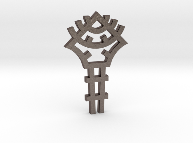 Key / Llave in Polished Bronzed Silver Steel