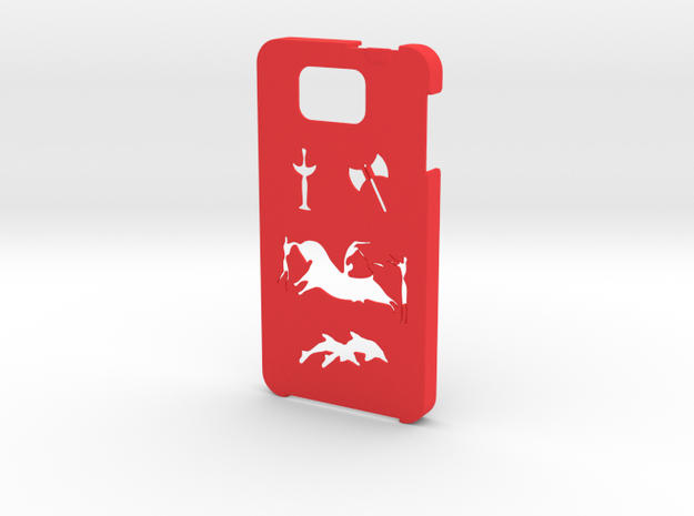 Samsung Galaxy Alpha Minoan case  in Red Strong & Flexible Polished