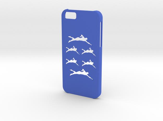 Iphone 6 Swimming case in Blue Processed Versatile Plastic