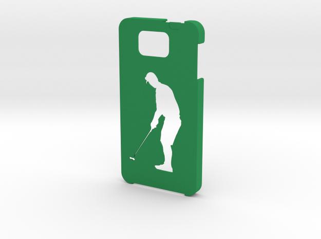 Samsung Galaxy Alpha Golf case in Green Processed Versatile Plastic