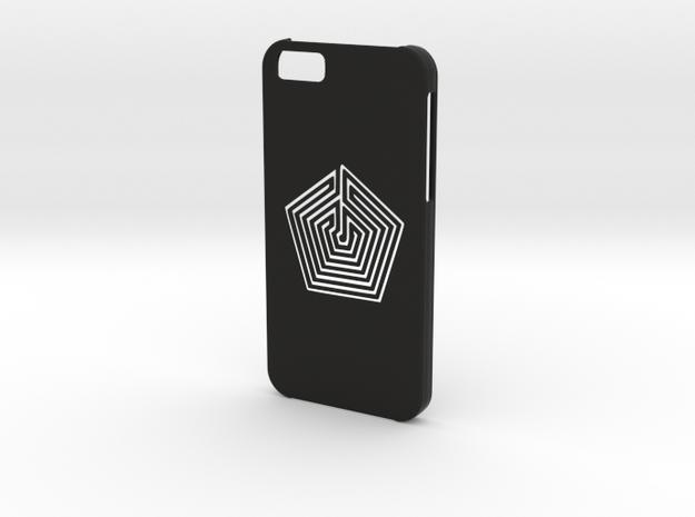 Iphone 6 Labyrinth case in Black Natural Versatile Plastic
