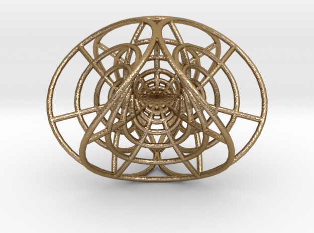 """Enneper's Mesh, 1/8"""" diameter wires in Polished Gold Steel"""