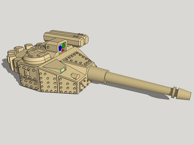 15mm Sci-Fi IFV Turret 3d printed