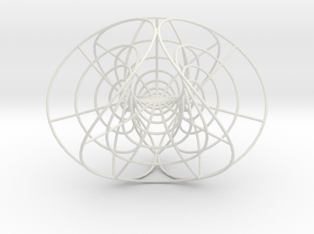 Enneper's Mesh, large, 1.5 mm wires in White Natural Versatile Plastic