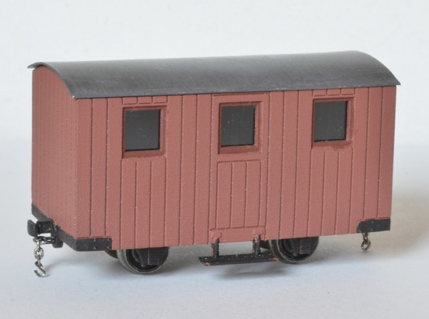 4x 009 FR Quarrymen's carriages Type 3 in Frosted Ultra Detail